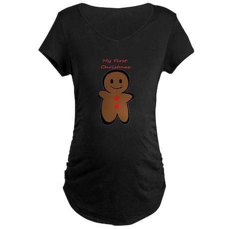 First Christmas Maternity Dark T-Shirt
