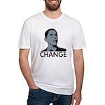 Barack Obama: Change Fitted T-Shirt