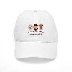 Peace Love Neurosurgery Baseball Cap