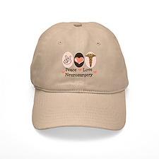Peace Love Neurosurgery Baseball Baseball Cap