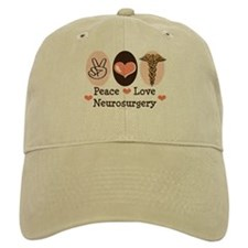 Peace Love Neurosurgery Baseball Cap