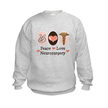 Peace Love Neurosurgery Kids Sweatshirt