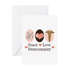 Peace Love Neurosurgery Greeting Card