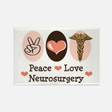 Peace Love Neurosurgery Rectangle Magnet