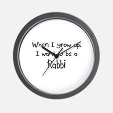 When I grow up I want to be a Rabbi Wall Clock