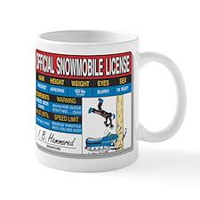 Snowmobile License tee Mug
