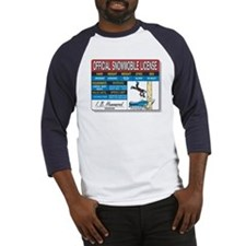 Snowmobile License tee Baseball Jersey