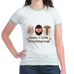 Peace Love Otolaryngology ENT Jr. Ringer T-Shirt