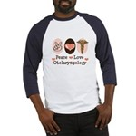 Peace Love Otolaryngology ENT Baseball Jersey