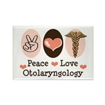Peace Love Otolaryngology ENT Rectangle Magnet