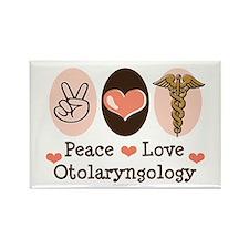 Peace Love Otolaryngology ENT Rectangle Magnet