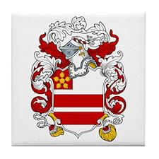 Preston Family Crest Tile Coaster