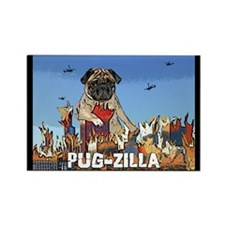 Pug-zilla Rectangle Magnet