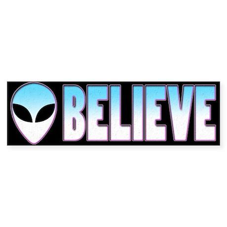 I Bleieve/Believe Designs Bumper Sticker