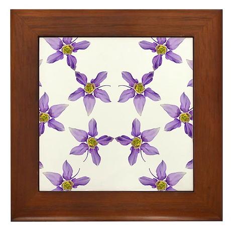 Framed Columbine 1 Tile