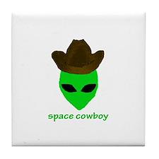 Space Cowboy Tile Coaster