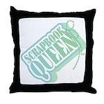 Tagged Scrapbook Queen Throw Pillow