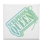 Tagged Scrapbook Queen Tile Coaster