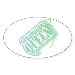 Tagged Scrapbook Queen Oval Decal