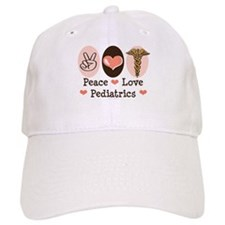 Peace Love Pediatrics Baseball Cap