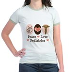 Peace Love Pediatrics Jr. Ringer T-Shirt