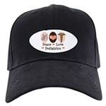 Peace Love Pediatrics Black Cap