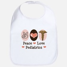 Peace Love Pediatrics Bib