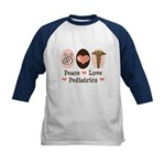 Peace Love Pediatrics Kids Baseball Jersey