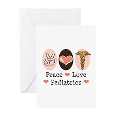 Peace Love Pediatrics Greeting Card