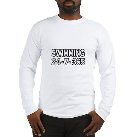 """Swimming 24-7-365"" Long Sleeve T-Shirt"