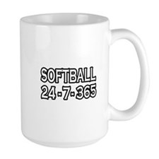 """""""Softball 24-7-365"""" Mug"""