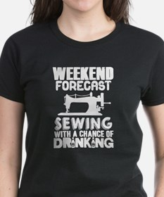 Sewing With A Chance Of Drinking T Shirt T-Shirt