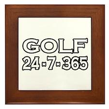 """""""Golf 24-7-365"""" Framed Tile"""