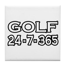 """""""Golf 24-7-365"""" Tile Coaster"""