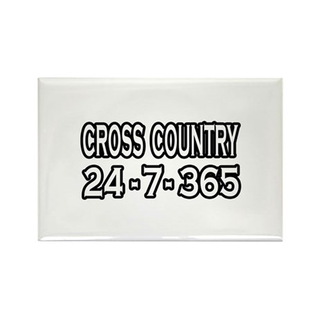 """""""Cross Country 24-7-365"""" Rectangle Magnet (10 pack"""