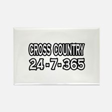 """Cross Country 24-7-365"" Rectangle Magnet (10 pack"