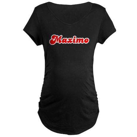 Retro Maximo (Red) Maternity Dark T-Shirt