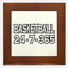"""""""Basketball 24-7-365"""" Framed Tile"""