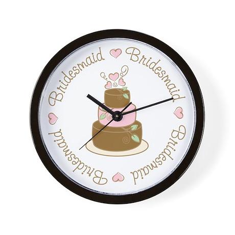 Sweet Bridesmaid Wedding Cake Wall Clock