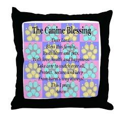 K9 Blessing Throw Pillow