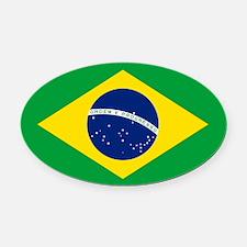 Flag Of Brazil Oval Car Magnet