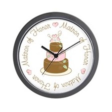 Sweet Matron of Honor Cake Wall Clock