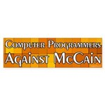 Computer Programmers Against McCain sticker