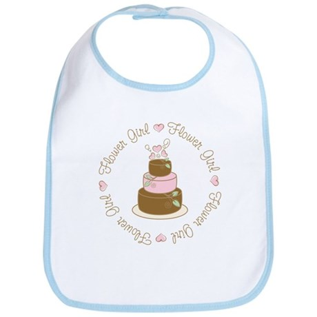Sweet Flower Girl Cake Bib