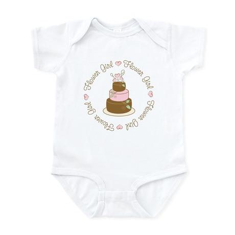 Sweet Flower Girl Cake Infant Bodysuit