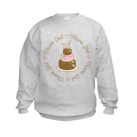 Sweet Flower Girl Cake Kids Sweatshirt