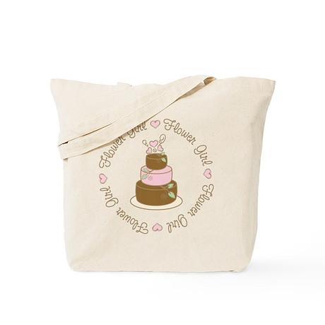 Sweet Flower Girl Cake Tote Bag