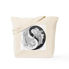 Yin and Yang Canvas Tote
