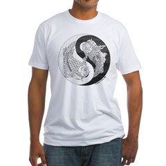 Yin and Yang Koi Fitted Tee