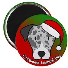 Cartoon Catahoula Leopard Dog Christmas Magnet